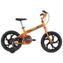Bicicleta ARO 16 - Power Rex - Laranja - Caloi -