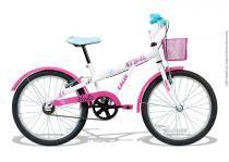 Bicicleta aro 20 caloi barbie para-lamas cestinha 2017 -
