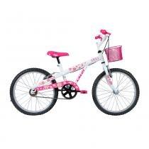 Bicicleta Aro 20 com Cestinha Ceci T12 Branca - Caloi -
