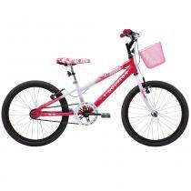 Bicicleta Aro 20 Nina Branca e Rosa Pink - Houston - Houston
