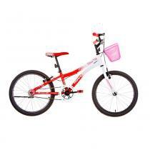 Bicicleta Aro 20 - Nina - Branca e Vermelha - Houston - Houston