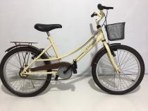 Bicicleta aro 20 retrô vintage  gilmex rios creme marrom paralamas cestinha garupa -