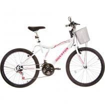 Bicicleta Aro 24 Houston Bristol Peak com 21 Marchas Branco -