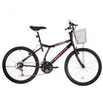 Bicicleta Aro 24 Houston Bristol Peak com 21 Marchas Preto -