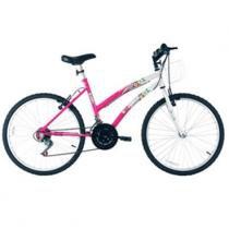 Bicicleta Aro 24 - Parati 18-V Prata e Rosa - Track  Bikes - Track Bikes