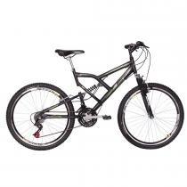Bicicleta Aro 26 24 Marchas Big Rider Full Suspension Preta - Mormaii - Mormaii
