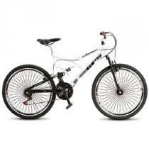 Bicicleta Aro 26 Dupla Suspensão 21 Marchas Branco 156.05 - Colli - Colli