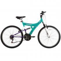Bicicleta Aro 26 Dupla Suspensão TB200 Azul/Lilás - Track Bikes - Track Bikes