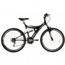 Bicicleta Aro 26 Dupla Suspensão TB300 Preto Fosco - Track Bikes - Track Bikes