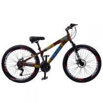Bicicleta Aro 26 Viking x Tuff 21 Vel. Shimano Marrom - Viking-x