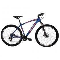 Bicicleta Aro 29 Alumínio 21V Duplo Freio a Disco Trail Azul - Dalannio Bike