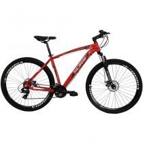Bicicleta Aro 29 Alumínio 24V Duplo Freio a Disco Trail Vermelha - Dalannio Bike