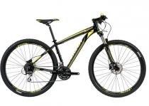 Bicicleta aro 29 mtb caloi explorer comp 24 velocidades freios a disco hidraulico c/trava no guidão shimano -