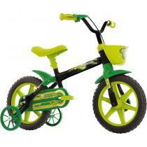 Bicicleta Aro12 Arco-Íris TrackBikes Preto/Verde - Casa  video