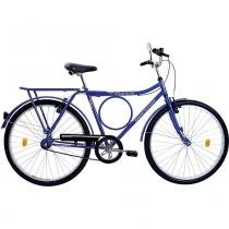 "Bicicleta Bagageiro Aro 26"" Super Forte VB Houston Azul - Bike do nordeste s/a - filial"
