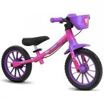 Bicicleta Balance Bike de Equilíbrio sem Pedal Feminina - Nathor