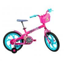 Bicicleta barbie aro 16 rosa caloi -