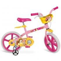 Bicicleta Bela Princesas Disney Aro 14 Rosa - Bandeirante
