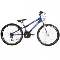 Bicicleta Blaster Suspenção Dianteira 21V Aro 26 Azul - Track Bikes - Track Bikes