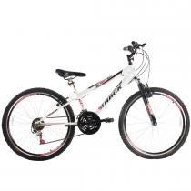 Bicicleta Blaster Suspenção Dianteira 21V Aro 26 Branco - Track Bikes - Track Bikes