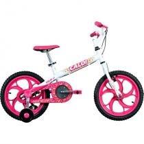 Bicicleta Caloi Ceci, Aro 16, Branca -