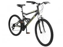Bicicleta Caloi Mountain Bike SK Sport Aro 26 21 Marchas Full Suspension Câmbio Shimano