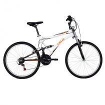 Bicicleta Caloi XRT, 21 marchas, Aro 26, Branca e Laranja - caloi