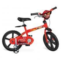Bicicleta Cars Disney Aro 14 Vermelho Bandeirante -