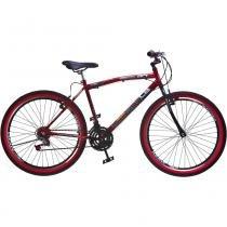 Bicicleta Colli Aro 26 CB500 36 Raios V-Break 128/16 Vermelho - Colli