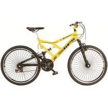 Bicicleta Colli Bike Adulto Dupla Suspensão Aro 26 - 21 Marchas Quadro de Aço Freio V-Brake