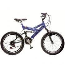 Bicicleta Colli Bike Aro 20 21 Marchas - Dupla Suspensão Quadro em Aço Freios V-brake