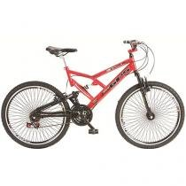Bicicleta Colli Bike Aro 26 21 Marchas - Dupla Suspensão QUadro de Aço Freio V-break