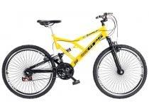 Bicicleta Colli Bike GPS Aro 26 21 Marchas - Dupla Suspensão Freio V-brake
