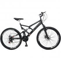 Bicicleta Colli Bike GPS Aro 26 21 Marchas - Quadro de Aço Freio a Disco