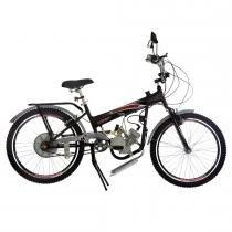 Bicicleta com Motor 2 Tempos Aro 24 TKX Power 48CC Preto - Track Bikes - Track Bikes
