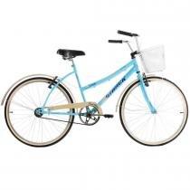 Bicicleta Confort Classic Plus Estilo Retrô Aro 26 Azul - Track Bikes - Azul claro - Track  Bikes