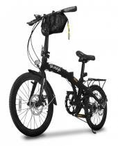 Bicicleta dobrável pliage plus two dogs preta -