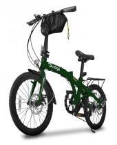 Bicicleta dobrável pliage plus two dogs verde -