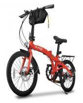 Bicicleta dobrável pliage plus two dogs vermelha -