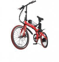 Bicicleta dobrável pliage vermelha com kit elétrico two dogs -