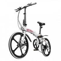 Bicicleta Dobrável two dogs Pliage Alloy Alumino Branca -