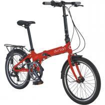 Bicicleta Dobrável Urbana Aro 20 e 7 Marchas - Durban Bay Pro Vermelho -