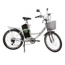 Bicicleta Elétrica 350W Aro 24 TKX City Flex Branco - Track Bikes - Track Bikes