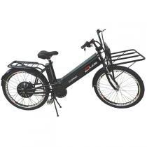 Bicicleta Elétrica Cargo 800W 48V 12Ah Aro 26 Preta - Duos