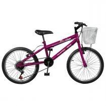 Bicicleta Feminina 7 Marchas Aro 20 Violeta Serena Plus Master Bike -