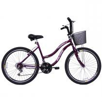 Bicicleta Feminina Aro 26 com 18 marchas Beach - Dalannio bike