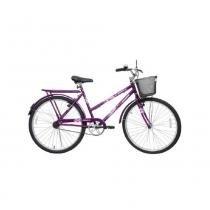Bicicleta Feminina Aro 26 Genova Cairu - 310754 - roxo - Cairu