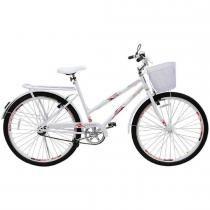 Bicicleta Feminina Genova Aro 26 com Cesta Branca - Cairu - Cairu