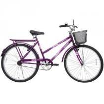Bicicleta Feminina Genova com Cesta Aro 26 Roxo - Cairu - Cairu