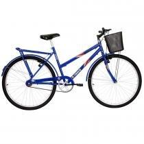 Bicicleta Feminina Practise com Cestão Aro 26 Azul - Track Bikes - Track Bikes